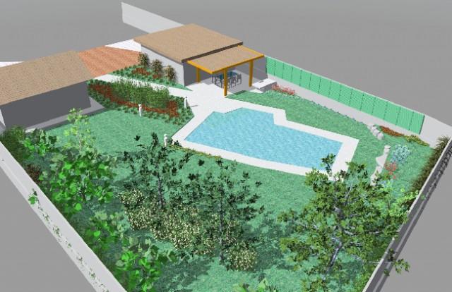 Giardino Moderno Con Piscina Arte Giardini